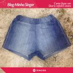 Shorts jeans infantil | Passo a Passo
