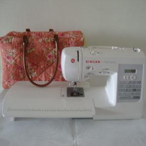 maleta pronta e máquina singer